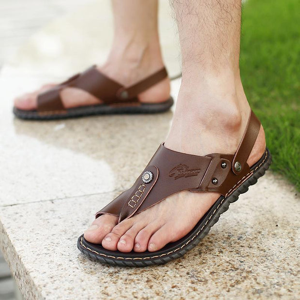 Men's casual trend comfortable flat with breathable sandals slippers 126170