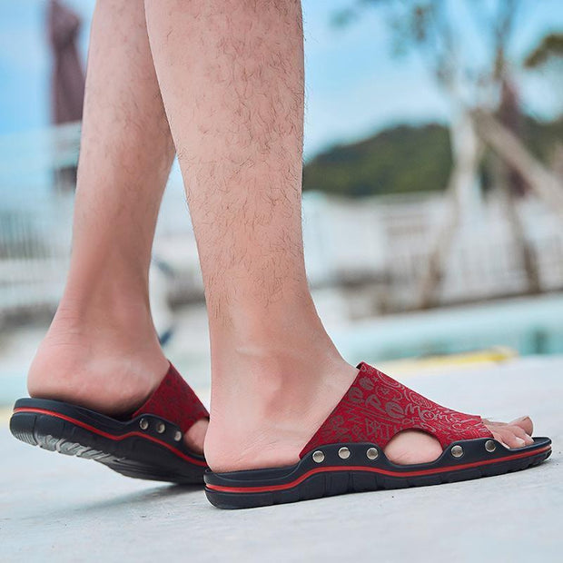 Men's casual trend comfortable flat with breathable slippers 126169
