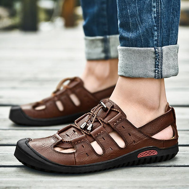 Mens Casual Trend Outdoor Handmade Shoes Waterproof And Wearable Sandals 125846 Men Shoes