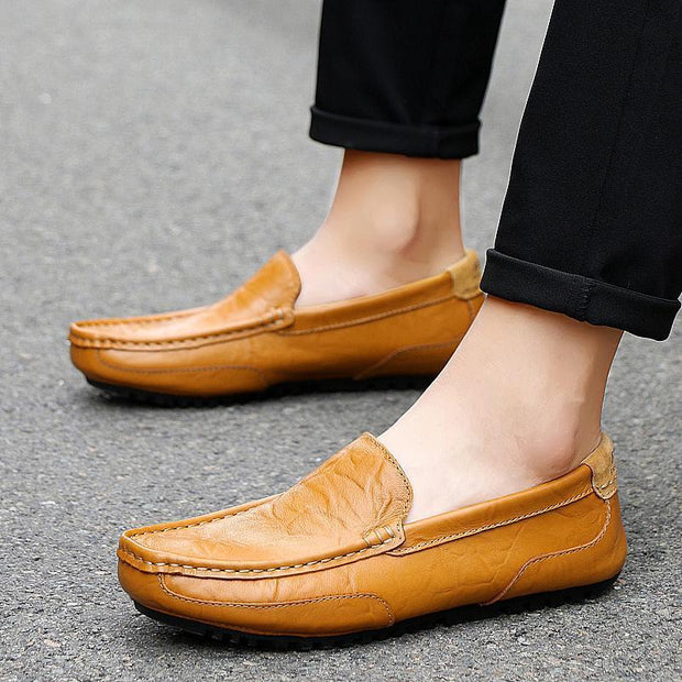 Mens Fashion Summer Outdoor Cowhide Casual Shoes Non-Slip And Wear-Resistant Soles 128402 Men