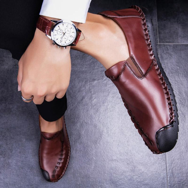 Mens Leather Shoes Mens Of The Four Seasons Pure Hand-Made Set Foot 115807 Men Shoes