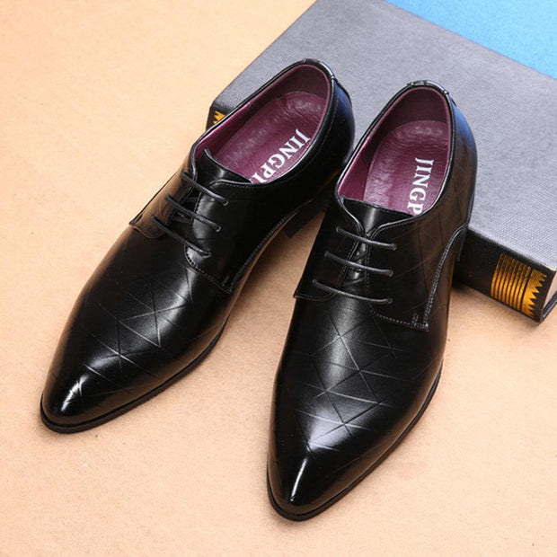 Large Size Men British Style Leather Casual Formal Dress Shoes 131601