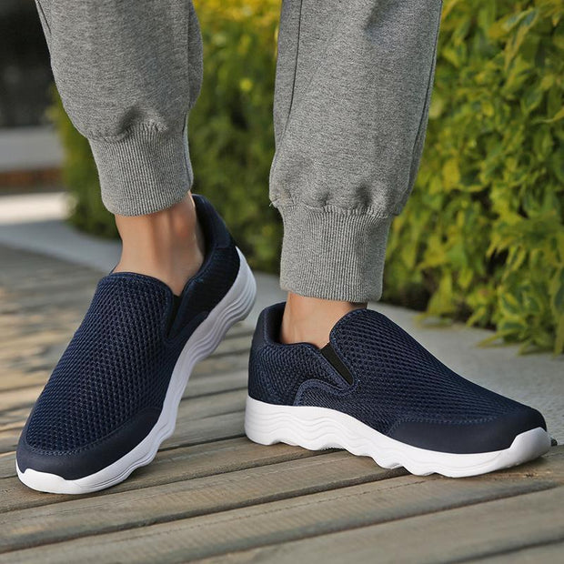 Mens Mesh Casual Shoes Light Quality Walking Breathable For The Elderly 121883 Men