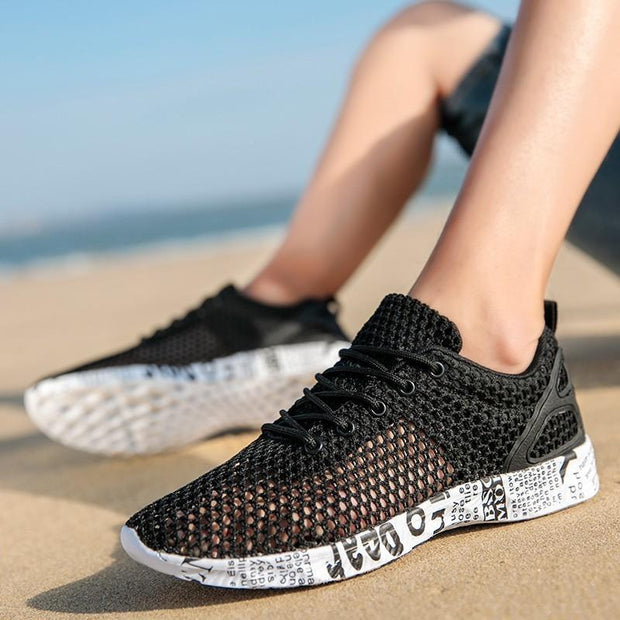 Mens Popular Hollowed-Out Breathable Running Shoes 121946 Men