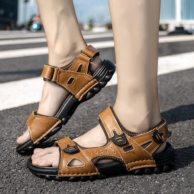 Mens Sport Outdoor Sandals Trail Leather Water Sandal Shoes 128890 Men
