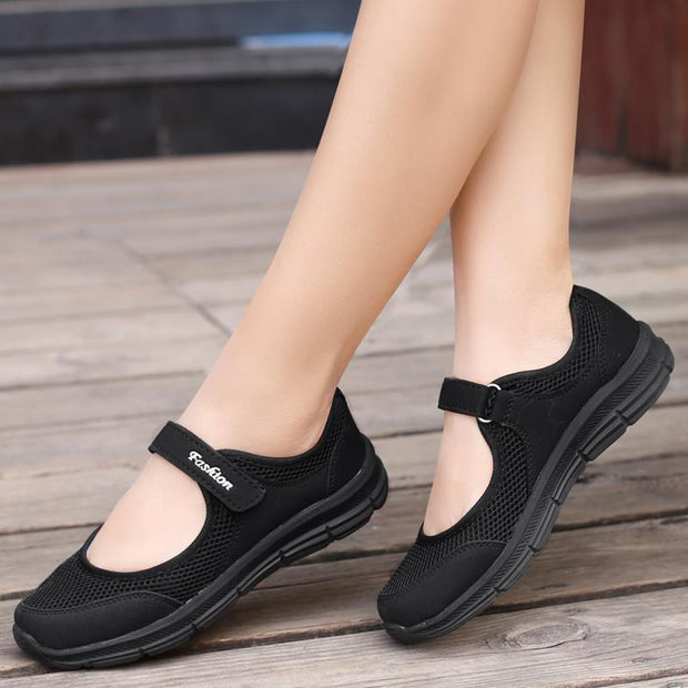Spring Women Shoes Summer Female Breathable Mesh Cloth Anti-Slip Sneakers Fashion 124496