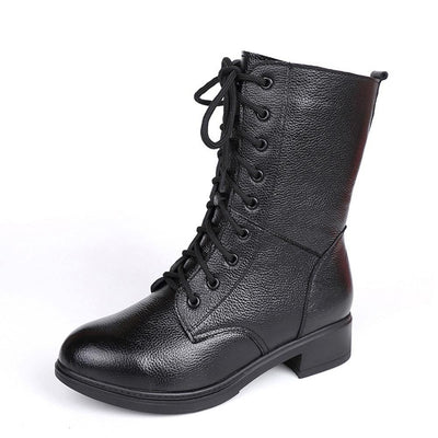 2018 New Arrival Black Leather Boots for Women 117737