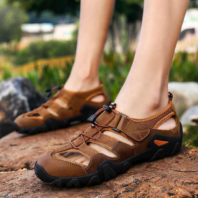 Mens Casual Round-Toe Beach Sandals Men Shoes