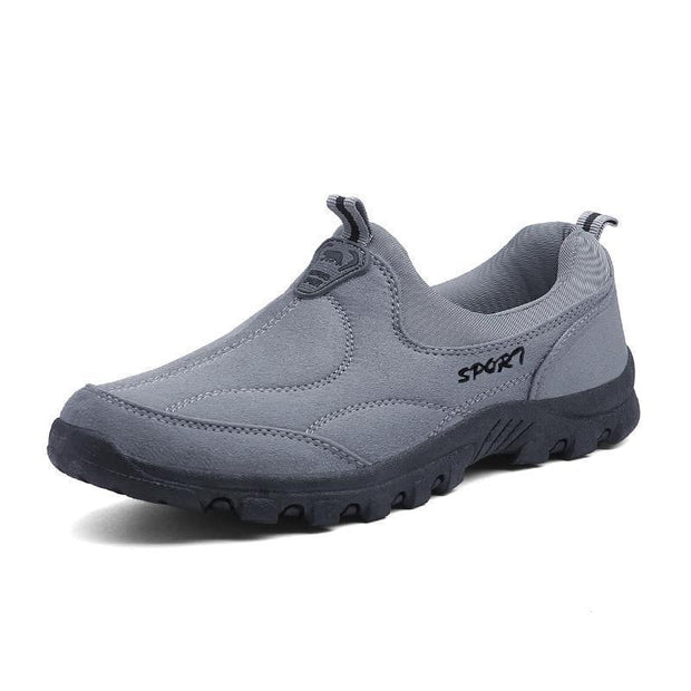 Mens Breathable Suede Cloth Rubber Casual Slip-On Flats 135432 Light Grey / Us 6 Men Shoes