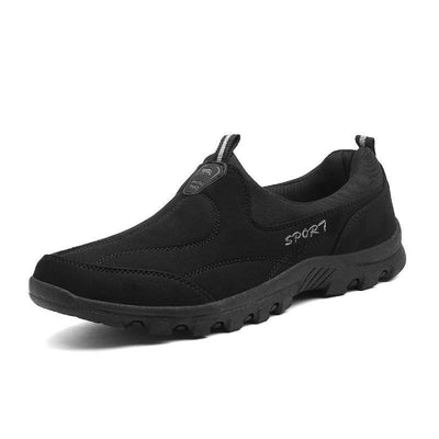 Mens Breathable Suede Cloth Rubber Casual Slip-On Flats Men Shoes