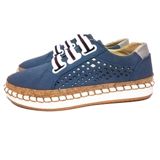 Women Hollow Out Round Toe Leisure Flats Shoessecond -30% By Codebts30 135331 Blue / Us 4 Shoes