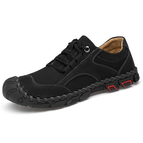 Men Round Head Suture Casual Leather Shoes Us 6 / 135376 Black