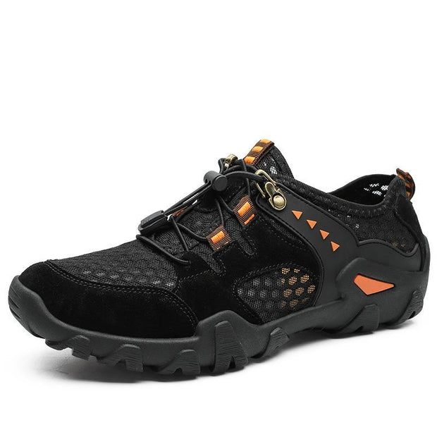 Men Hiking Outdoor Breathable Hollow Mesh Wear-Resistant Climbing Shoes Us 6 / 135614 Black