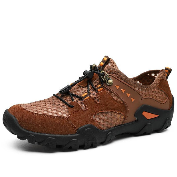 Men Hiking Outdoor Breathable Hollow Mesh Wear-Resistant Climbing Shoes Us 6 / 135614 Brown