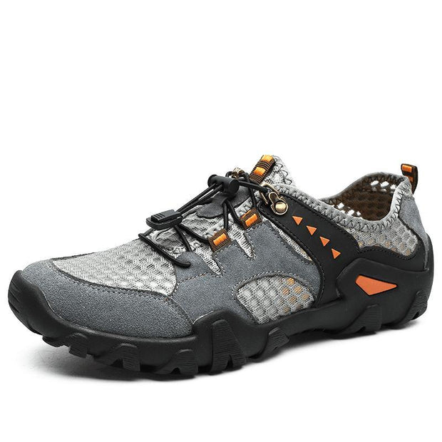 Men Hiking Outdoor Breathable Hollow Mesh Wear-Resistant Climbing Shoes Us 6 / 135614 Grey