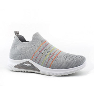 Women's Air-Cushion Knitted Mesh Breathable Flying Woven Sock Shoes