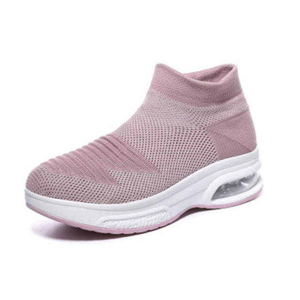 Womens Breathble Mesh Air Cushion Flying Sneakers 136051 Pink / Us 4 Women Shoes