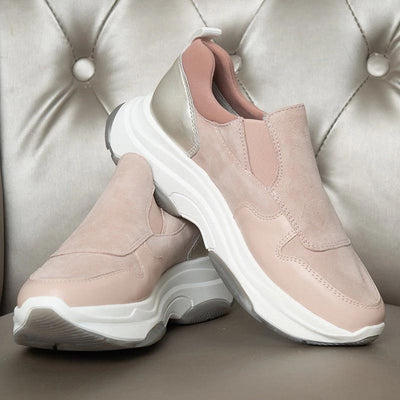 Women's Four Seasons Soft Leather Breathable Slip-On Athletic Shoes