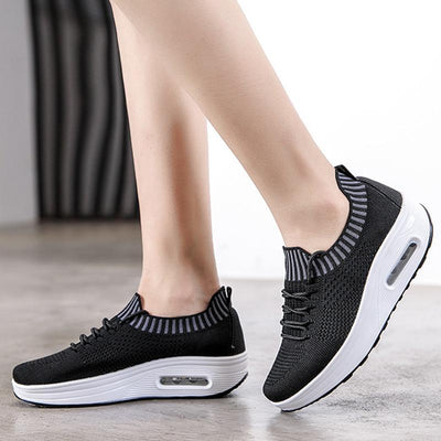 Women Mesh Lace Up Casual Platform Cushioned Shoes(Second -30% by code:BTS30)