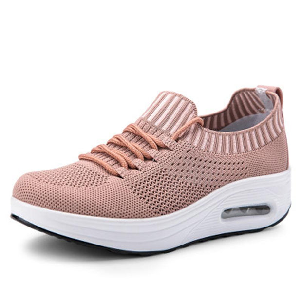 Women Mesh Lace Up Casual Platform Cushioned Shoessecond -30% By Codebts30 136222 Pink / Us 4 Shoes