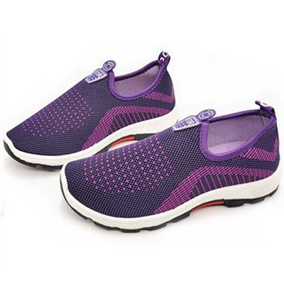 Women's Four Seasons Mesh Breathable Warm Slip-On Sneakers