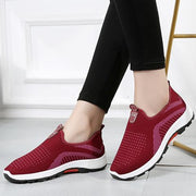 Womens Four Seasons Mesh Breathable Warm Slip-On Sneakers Women Shoes