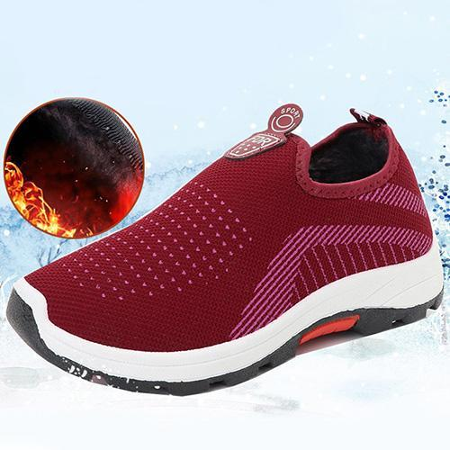 Womens Four Seasons Mesh Breathable Warm Slip-On Sneakers 136235 Red / Us 4 Women Shoes