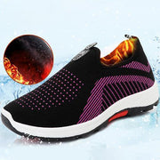Womens Four Seasons Mesh Breathable Warm Slip-On Sneakers 136235 Black / Us 4 Women Shoes