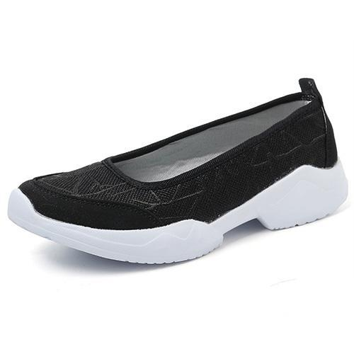 Womens Flax Lightweight Breathable Slip On Flats Women Shoes