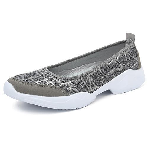 Womens Flax Lightweight Breathable Slip On Flats 136255 Grey / Us 4 Women Shoes