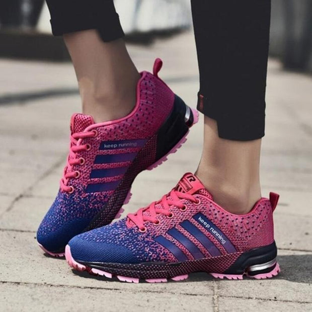 Mens Sports Shoes Mesh Fabric Breathable Running Sneakers 136303 Pink / Us 14 Men