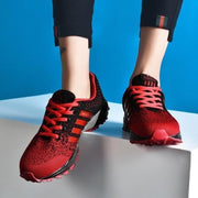 Mens Sports Shoes Mesh Fabric Breathable Running Sneakers 136303 Red / Us 6 Men