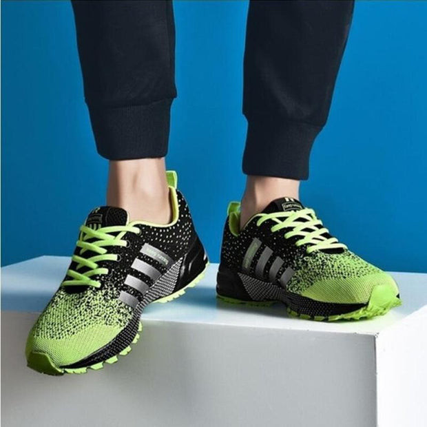 Mens Sports Shoes Mesh Fabric Breathable Running Sneakers 136303 Green / Us 6 Men