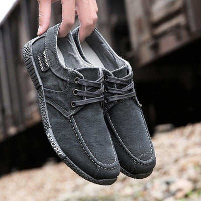 Mens Leather Solid Color Soft Stylish Sneakers Men Shoes