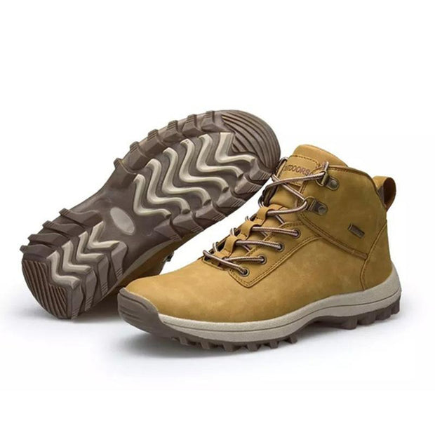 Mens Outdoor Hiking High Quality Boots 136751 Khaki / Us 6 Men Shoes