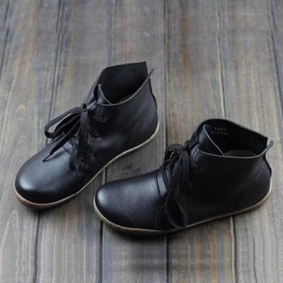 Women Lace-Up Soft Casual Loafers Shoes