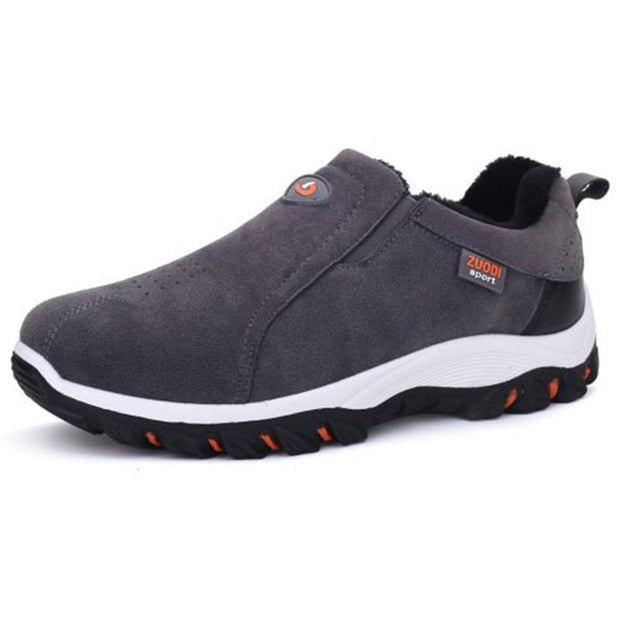 Mens Solid Colors Soft Bottom Non-Slip Slip-On Sneakers 136881 Deep Gray / Us 6 Men Shoes