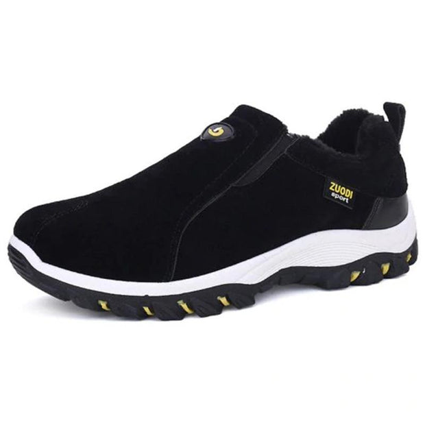 Mens Solid Colors Soft Bottom Non-Slip Slip-On Sneakers 136881 Black / Us 6 Men Shoes
