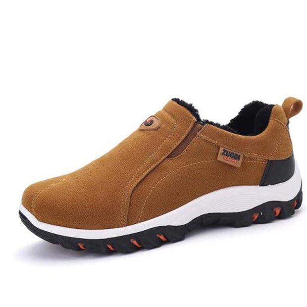Mens Solid Colors Soft Bottom Non-Slip Slip-On Sneakers 136881 Brown / Us 6 Men Shoes