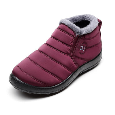 Womens Waterproof Handmade Cotton Snow Boots Women Shoes