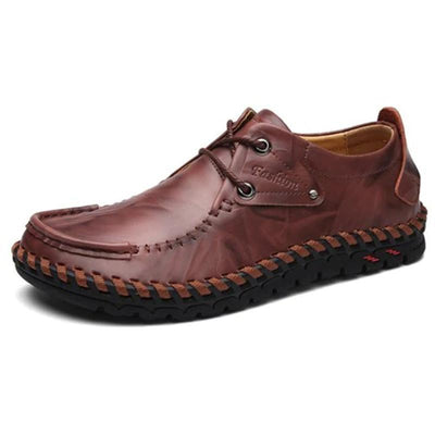 Mens British Hand-Sewn Casual Leather Shoes Men