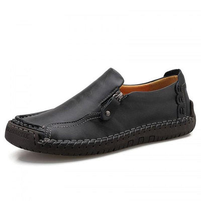 Mens Breathable Casual Lazy Large-Size Hand-Sewn Flats Men Shoes