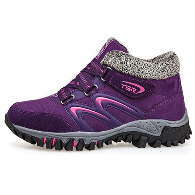 Womens Non-Slip Plus Velvet Health Warm Soft Bottom Outdoor Sports Shoes Women
