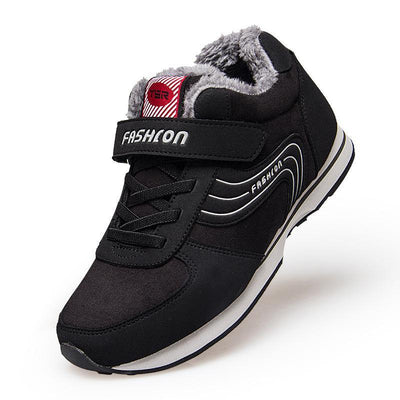 Mens Lightweight Wear-Resistant Non-Slip Cotton Shoes Plus Fluffy Warm Men