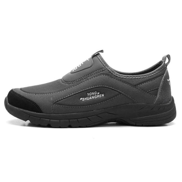 Mens Mesh Breathable Athletic Sports Casual Slip-On Sneakers 137251 Dark Gray / Us 6 Men Shoes