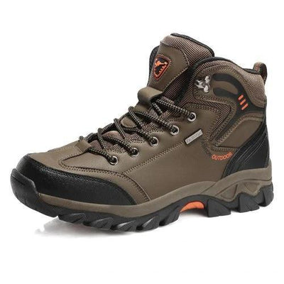 Mens All Seasons Large-Size Leather Outdoor Casual Sports Climbing Sneakers Men Shoes