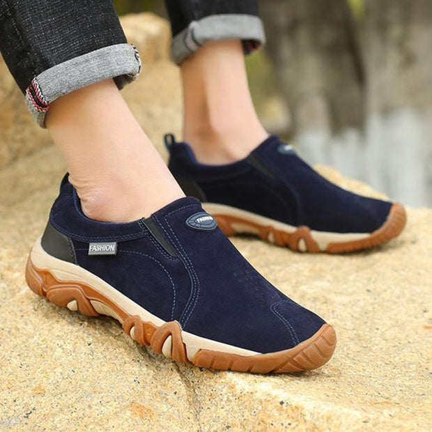 Mens Fashion All Seasons Leather Lightweight Outdoor Non-Slip Low-Top Sneakers Men Shoes