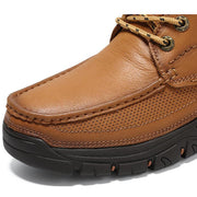 Mens New Toe Layer Leather Non-Slip Wear-Resistant Youth Hiking Shoes Men