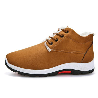 Mens New Fashion Wild Thickening Plus Velvet Warm Hiking Shoes Men