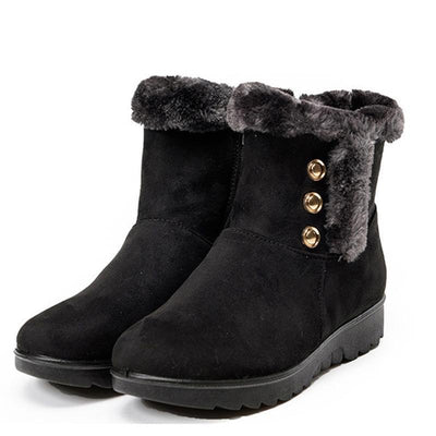 Womens Non-Slip Warm Plus Velvet Shoes Women